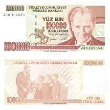 Turkey 100000 Lira 1997 P-206 Banknotes UNC