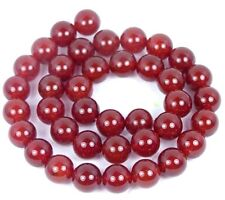 "AA+ 10mm Carnelian Agate Round Beads 15"""