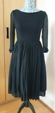 Vintage Negro Vestido Talla 8/10