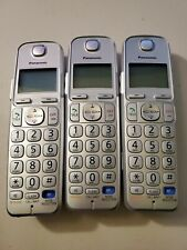 Lot of 3x Panasonic KX-TGEA20 S DECT 6.0 Plus Cordless Phone Handset Only