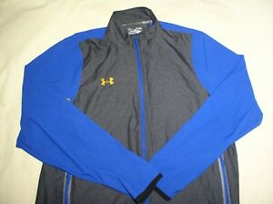 Under Armour Men's All Season Gear Zip Front Athletic Jacket XL,Blue+Gray,X-Cond