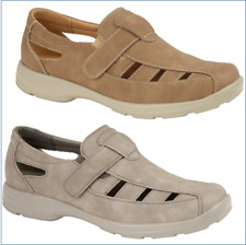 MEN'S CASUAL COMFORT SHOE TOUCH CLOSE HOLIDAYS WALKING  BEIGE GREY 7-12