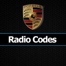 Radio Porsche code reset Boxster décodeur Becker sécurité codes de déverrouillage