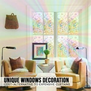 3D Window Glass Film Sticker Stained Anti UV Self-adhesive Rainbow Sticker - UK