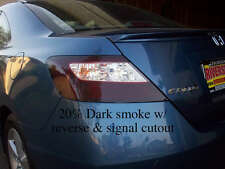 Civic coupe smoked tail light tint overlay W/ Reverse &Signal Cutout Mugen Si EX