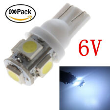 100Pcs 6V White T10 5050 5 SMD LED Wedge Car Light Bulb W5W 194 168 2825 158 192