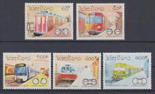 Laos (Postes Lao) - Michel-Nr. 1342-1346 postfrisch/** (Eisenbahn, U-Bahn, Train