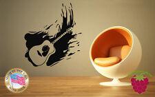 Wall Stickers Vinyl Decal Guitar Music Musician Rock&Roll  z653