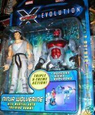 X MEN EVOLUTION FIGURE NINJA WOLVERINE MINT ON CARD