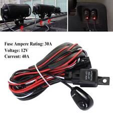 Universal LED Light Bar Fog Light Wiring Harness Kit 40A Switch Relay Fuse 12FT
