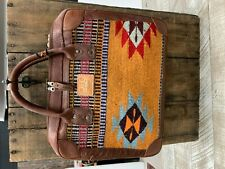 Will Leather Goods  Yellow Red Oaxacan Briefcase  NWT