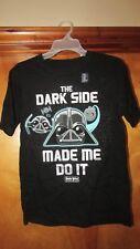 "Gap Kids ""The Dark Side Made Me Do It"" Angry Birds Star Wars Shirt- XXL  (G 12)"