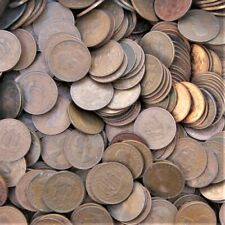 More details for 100 british half-pennies bulk buy from 1937-67 choose your amount free uk post