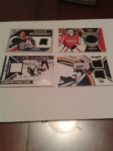 GAME JERSEY LOT 4 CARDS;