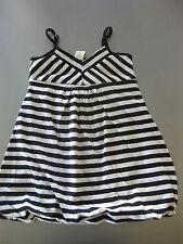 Kleid Gr. 110 Palomino Schwarz/weiß getreift 2-lagig ohne Saumkante, wunderschön