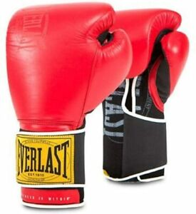 New Everlast 1910 Classic Boxing Training Gloves 14oz Red/Black (pair)