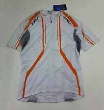 2XU Cycle Sub Men's Cycling Jersey MC2017a White/Orange Size XXL