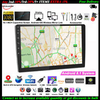 10.1''2 Din Android GPS Autoradio+CAM Airplay iOS Lien Miroir Tactile BT Wifi FM
