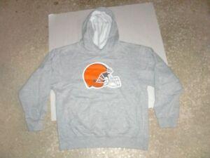 CLEVELAND BROWNS gray Hoodie Sweatshirt youth Medium