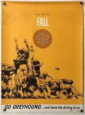 Original Vintage Poster GO GREYHOUND - ENJOY USA - FALL Football Travel 1960's