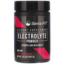 Sierra Fit Electrolyte Powder 0 Calories Mixed Berry 10.3 Oz (291 G)