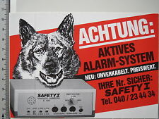 Aufkleber Sticker Safety I Alarmsystem (3890)
