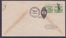 US 730a 1¢ APS IMPERF Pair Cover - Receiving Ship Branch San Diego Mar 29th 1935