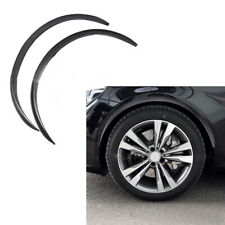 2pcs Auto Car Fender Wheel Eyebrow Protector Strips Black Carbon Fiber Sticker