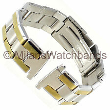 16-22mm Speidel Two Tone Stainless Steel Deployment Buckle Watch Band