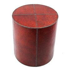 Luxury MidCentury Modern real Leather contemporary side-table/stool/coffee table