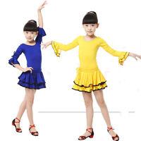 Childrens Latin Salsa Ballroom Dance Dress KIDS Girls Dancewear Costumes dress