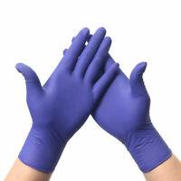 100X Nitrile Latex Disposable Glove Powder Free Non-Sterile Textured Dark Purple