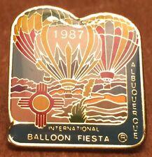 Albuquerque International Balloon Fiesta Collectible Lapel Pin Pinback ~ 1987