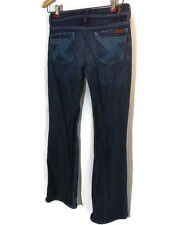 7 for All Mankind Medium Wash Jeans Women's Size 26 - Embroidered Pockets 29/29