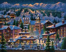 DOWDLE FOLK ART COLLECTORS JIGSAW PUZZLE ROCKY MOUNTAIN CHRISTMAS 1000 PC #10308
