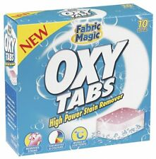 Brand New Heavy Duty Fabric Magic 10 OXY Tabs High Power Laundry Stain Remover