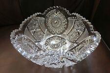Antique American Brilliant Era Cut Crystal Centerpiece Bowl Compote Unique Shape