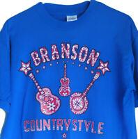 Men's LARGE Vintage 90s Branson Country Music Single Stitch Missouri MO USA i9