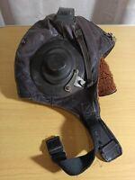 Vintage Soviet leather aviation helmet. original. USSR VK