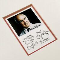 Albert Hofmann Autograph Autogramfoto LSD Psilocybin Formel