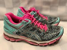 ASCICS Gel Kayano 22 Running Shoe Women's Size 7 Aqua Splash T5A6N