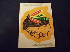 1973-74 OPC O-Pee-Chee Logos Chicago Black Hawks Logo UNPUNCHED UNUSED - exmt