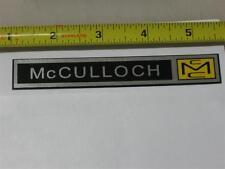 Vintage Go Kart, MC McCulloch Engine  30 40 70 75 100 shroud decal sticker long