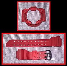 Casio G-Shock Frogman GF GWF 1000 RD-4 Burning Red Bracelet Band & lunette arriere