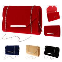Womens Fashion Envelope Clutch Evening Shoulder Handbag Bag with Chain Strap
