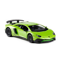 1:36 Lamborghini Aventador LP750-4 SV Car Model Metal Diecast Toy Vehicle Green