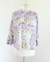 Maeve Anthropologie Brynna Dolman Sleeve Ikat Floral Print Blouse Top Size S
