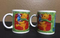 Disney Christmas Coffee Mugs Winnie the Pooh Tigger Piglet and Eeyore