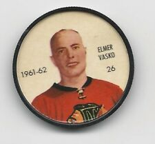 1961-62 SHIRRIFF SALADA FOODS HOCKEY COIN ELMER VASCO #26 Chicago Blackhawks