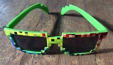 Pixel 8-Bit Glasses Video Game Nerd Geek Novelty Costume Glasses Rainbow EUC